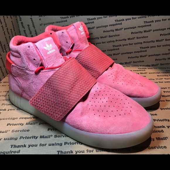 outlet store 26345 da7c6 ADIDAS TUBULAR INVADER STRAP RED MEN'S SIZE 12
